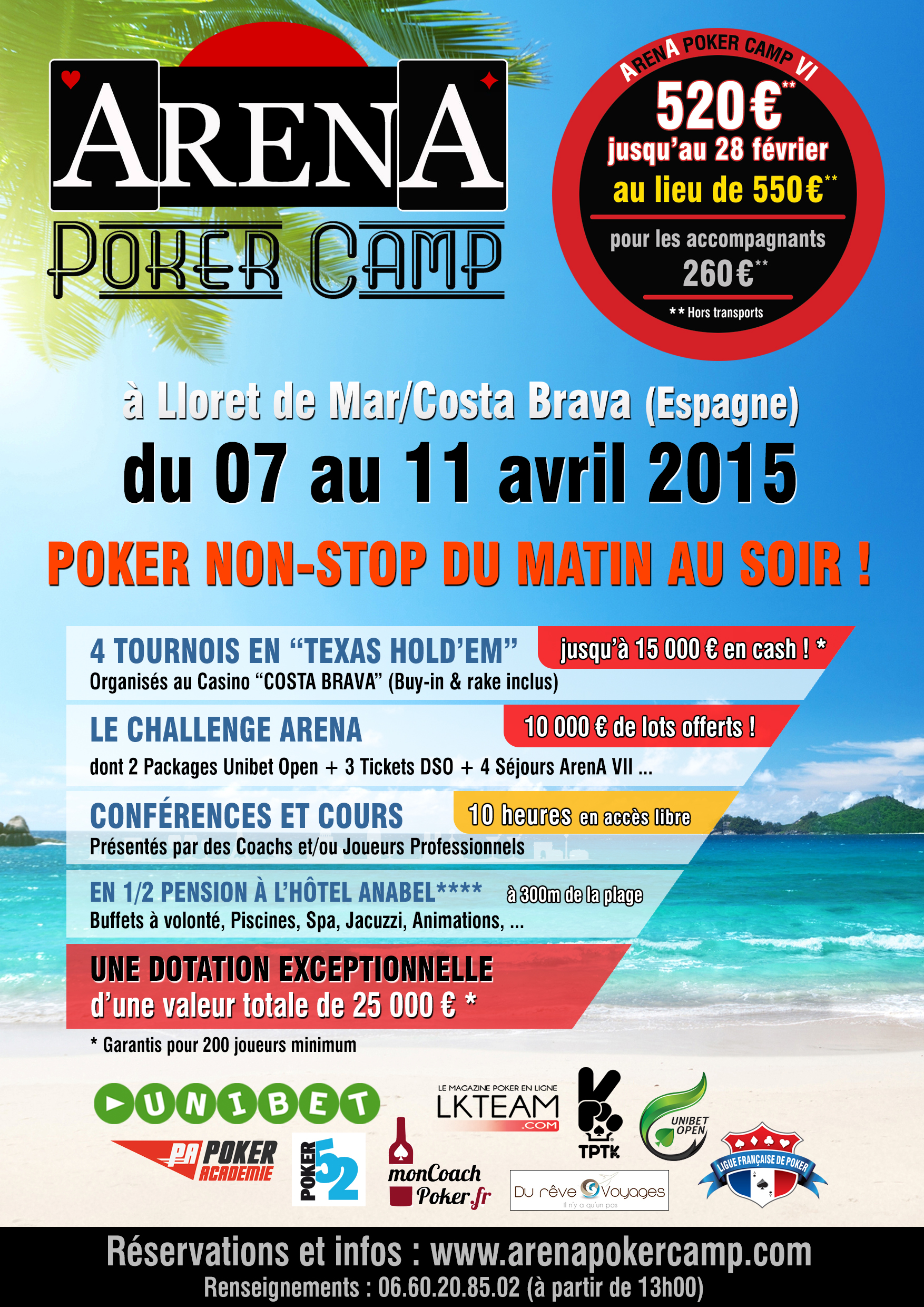 Affiche Arena Poker CAMP VI