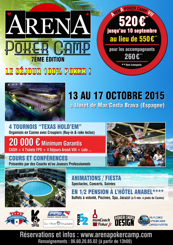 Code promo arena poker camp